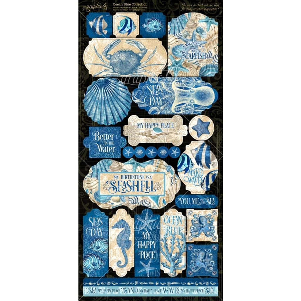 Stickers | Ocean Blue | Graphic 45 | Sheet B