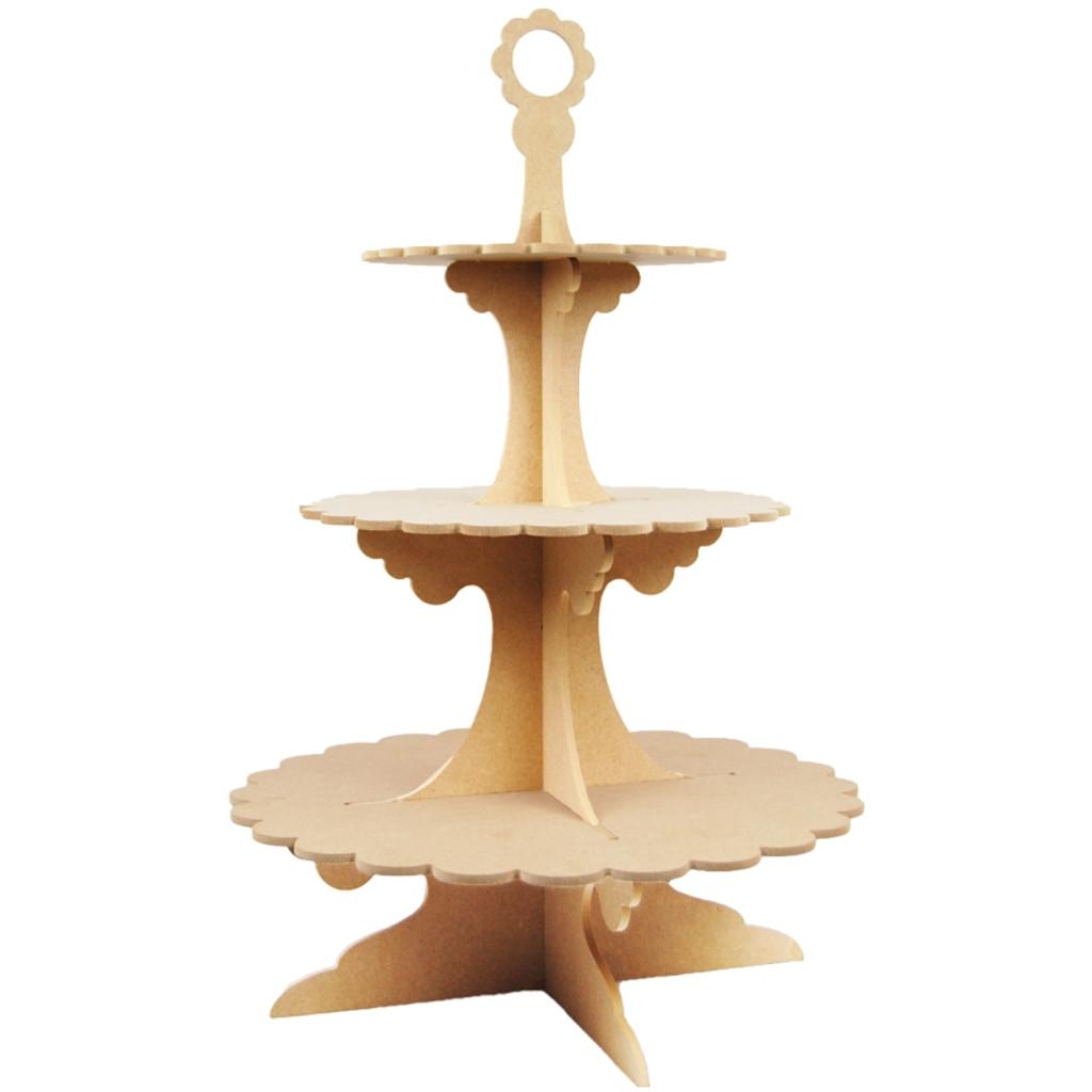 MDF Wood Shape | 3 Tier Cupcake Stand | Pronty Crafts