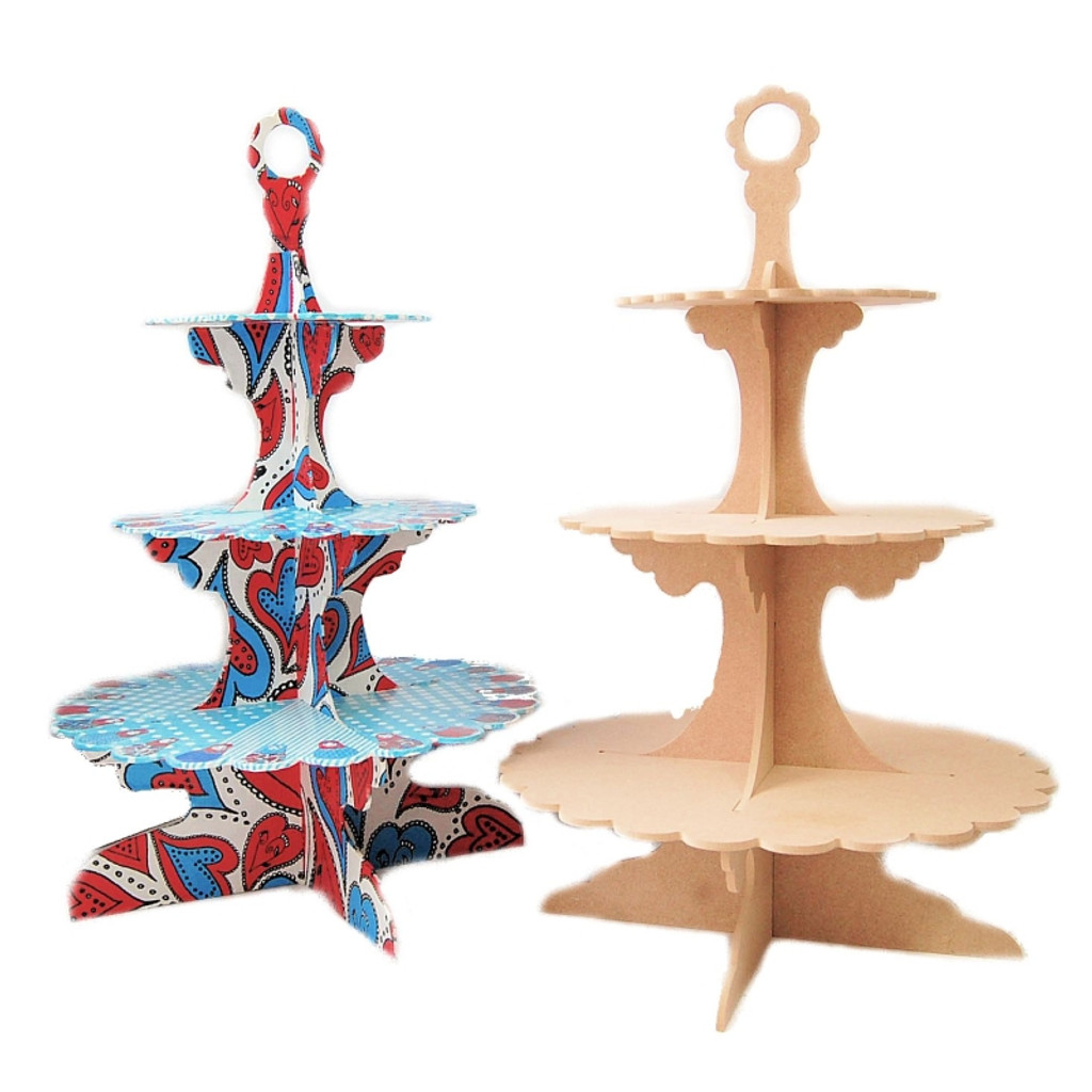 MDF Wood Shape | 3 Tier Cupcake Stand | Pronty Crafts | Example
