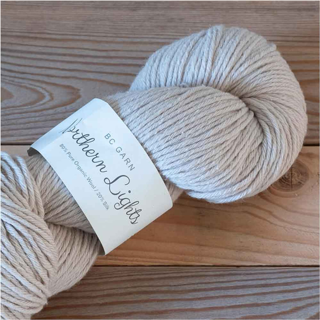 BC Garn Northern Lights GOTS Aran Weight Knitting Yarn, 100g Hanks | 02 Light Beige