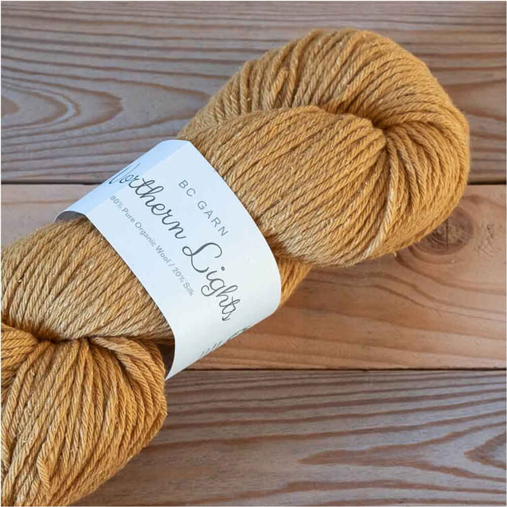 BC Garn Northern Lights GOTS Aran Weight Knitting Yarn, 100g Hanks | 04 Mustard