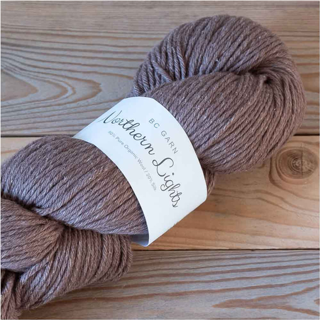 BC Garn Northern Lights GOTS Aran Weight Knitting Yarn, 100g Hanks | 07 Mink