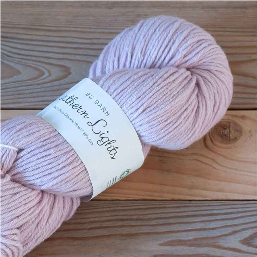 BC Garn Northern Lights GOTS Aran Weight Knitting Yarn, 100g Hanks | 11 Light Pink