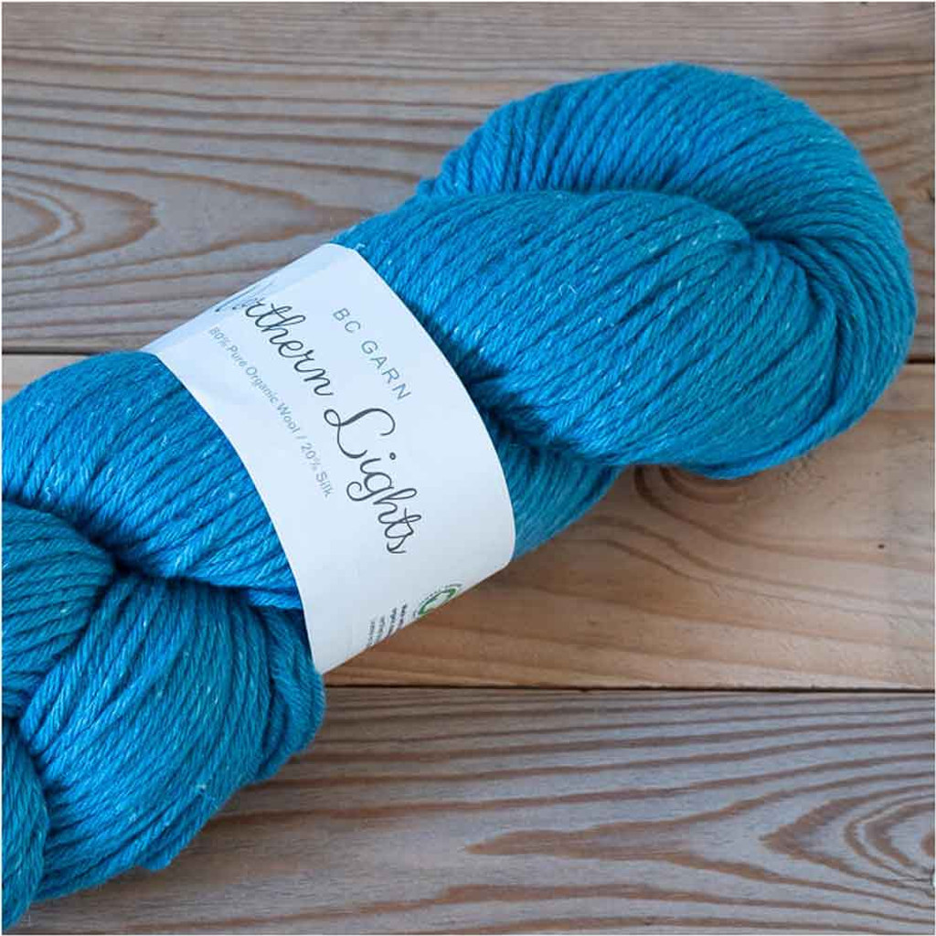 BC Garn Northern Lights GOTS Aran Weight Knitting Yarn, 100g Hanks | 19 Dark Turquoise