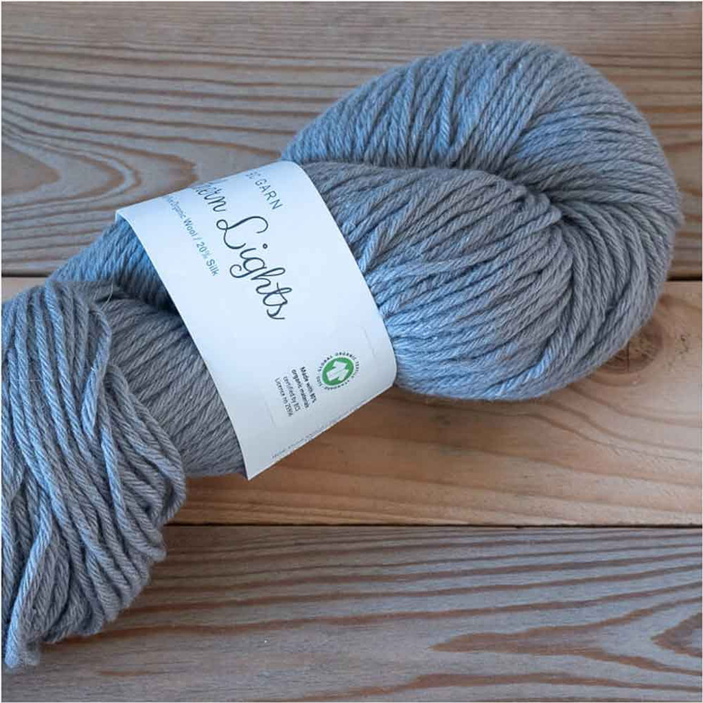 BC Garn Northern Lights GOTS Aran Weight Knitting Yarn, 100g Hanks | 22 Medium Grey