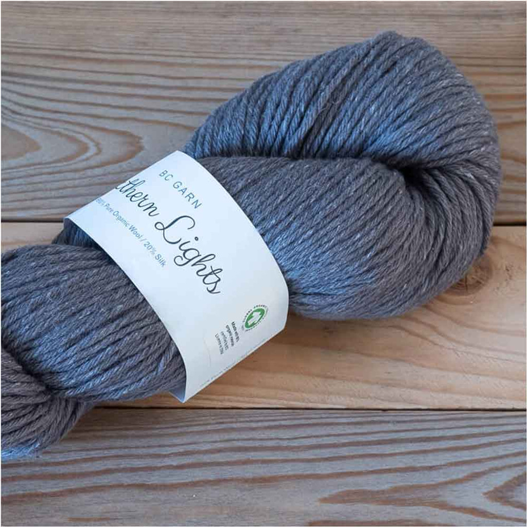BC Garn Northern Lights GOTS Aran Weight Knitting Yarn, 100g Hanks | 23 Smoked