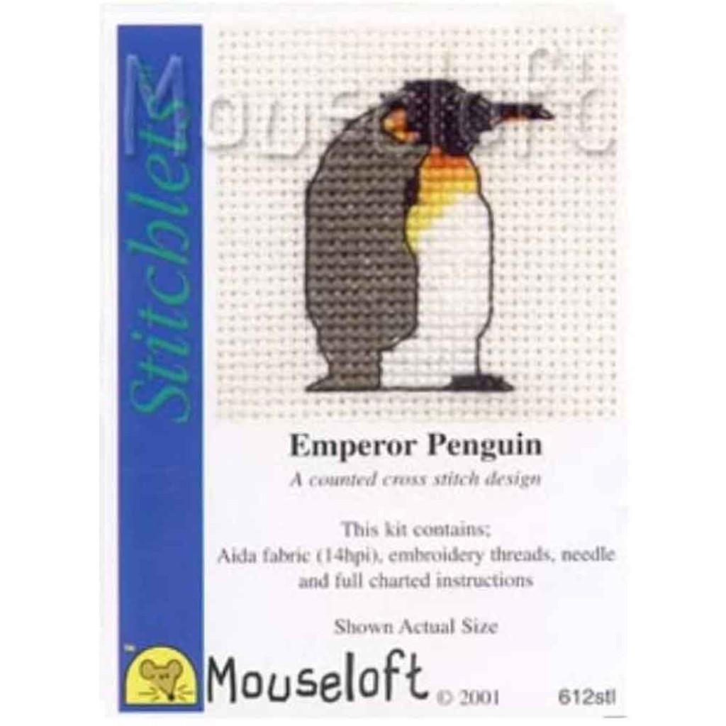 Mouseloft Stitchlets Mini Cross Stitch Kits | Emperor Penguin