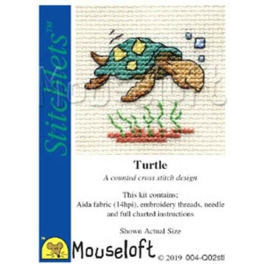 Mouseloft Stitchlets Mini Cross Stitch Kits | Turtle