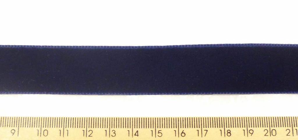 Berisford Velvet Ribbon 22mm - Navy Blue