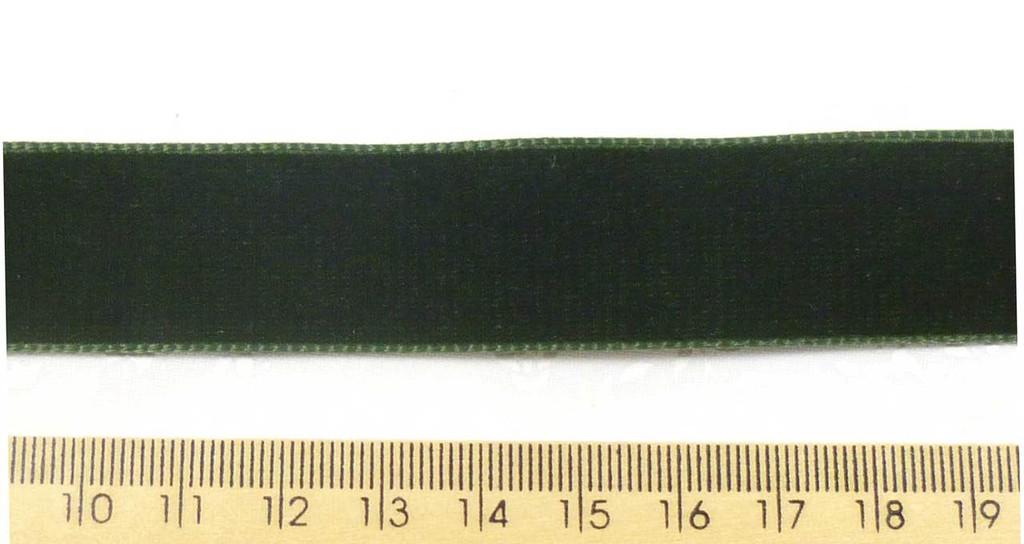 Berisford Velvet Ribbon 22mm - Bottle Green