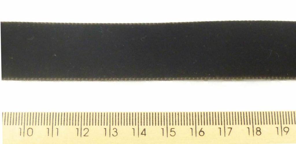 Berisford Velvet Ribbon 22mm - Seal Grey