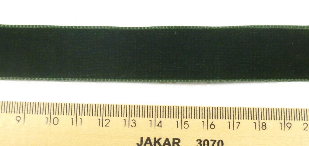 Berisford Velvet Ribbon 22mm - Olive