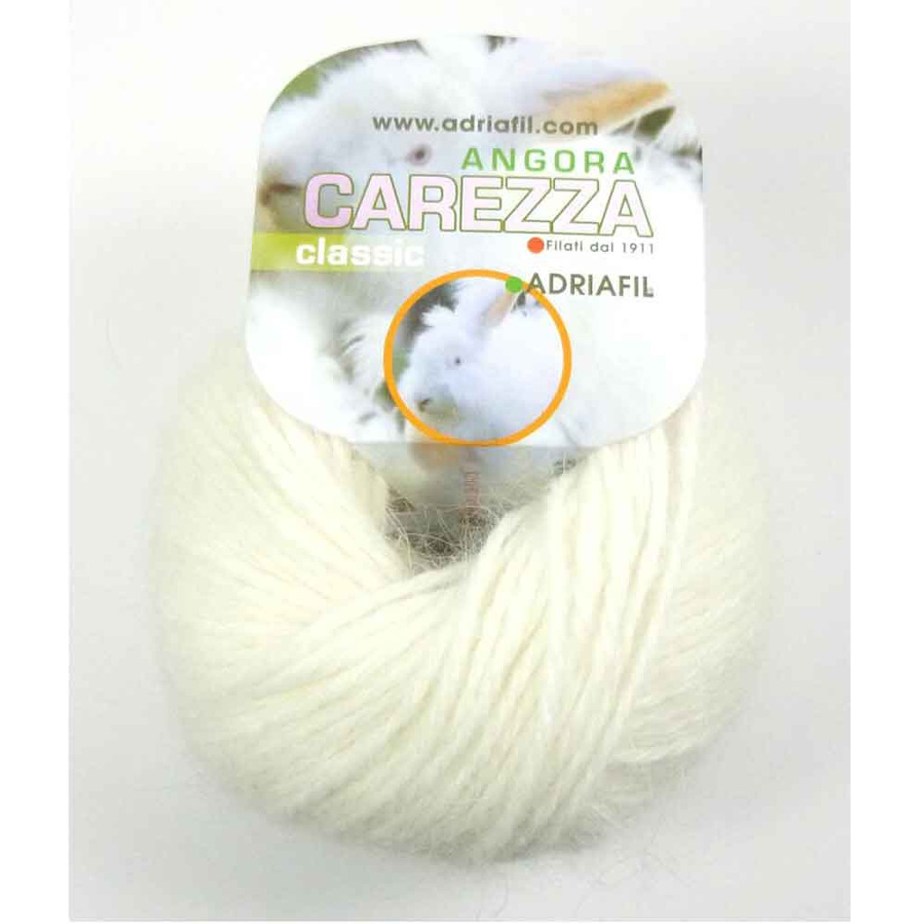 Adriafil Carezza Angora Knitting Yarn, 25g Balls | 11 Cream