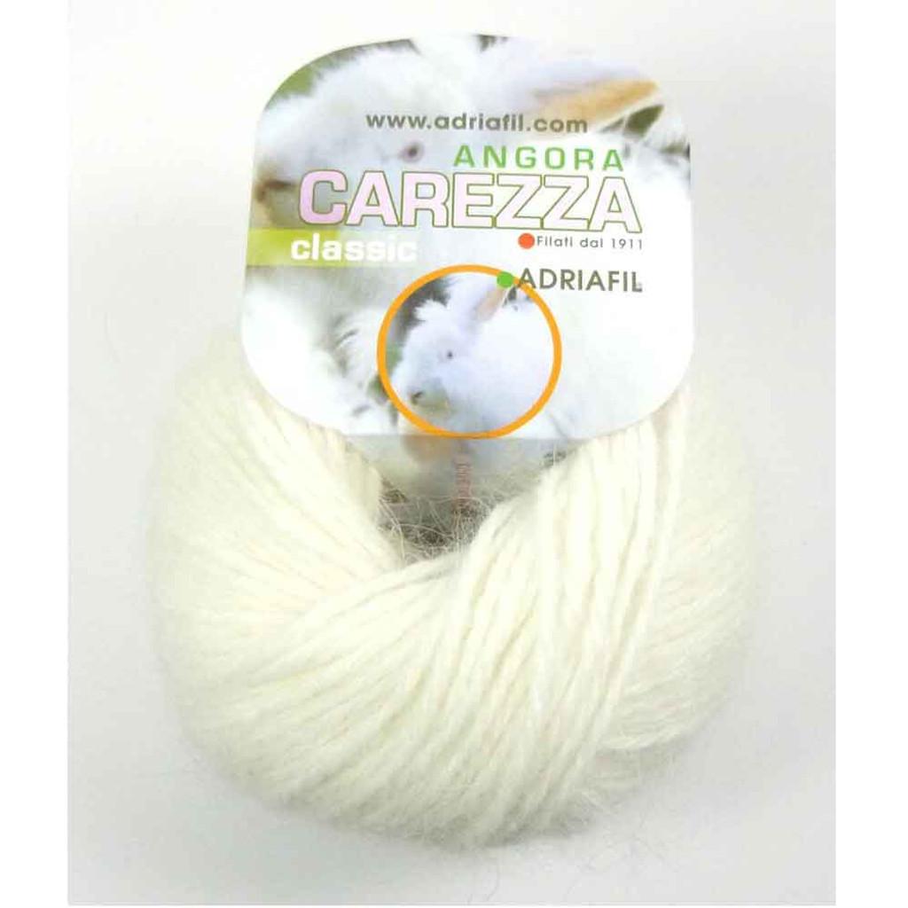 Adriafil Carezza Angora Knitting Yarn, 25g Balls | 11 Cream