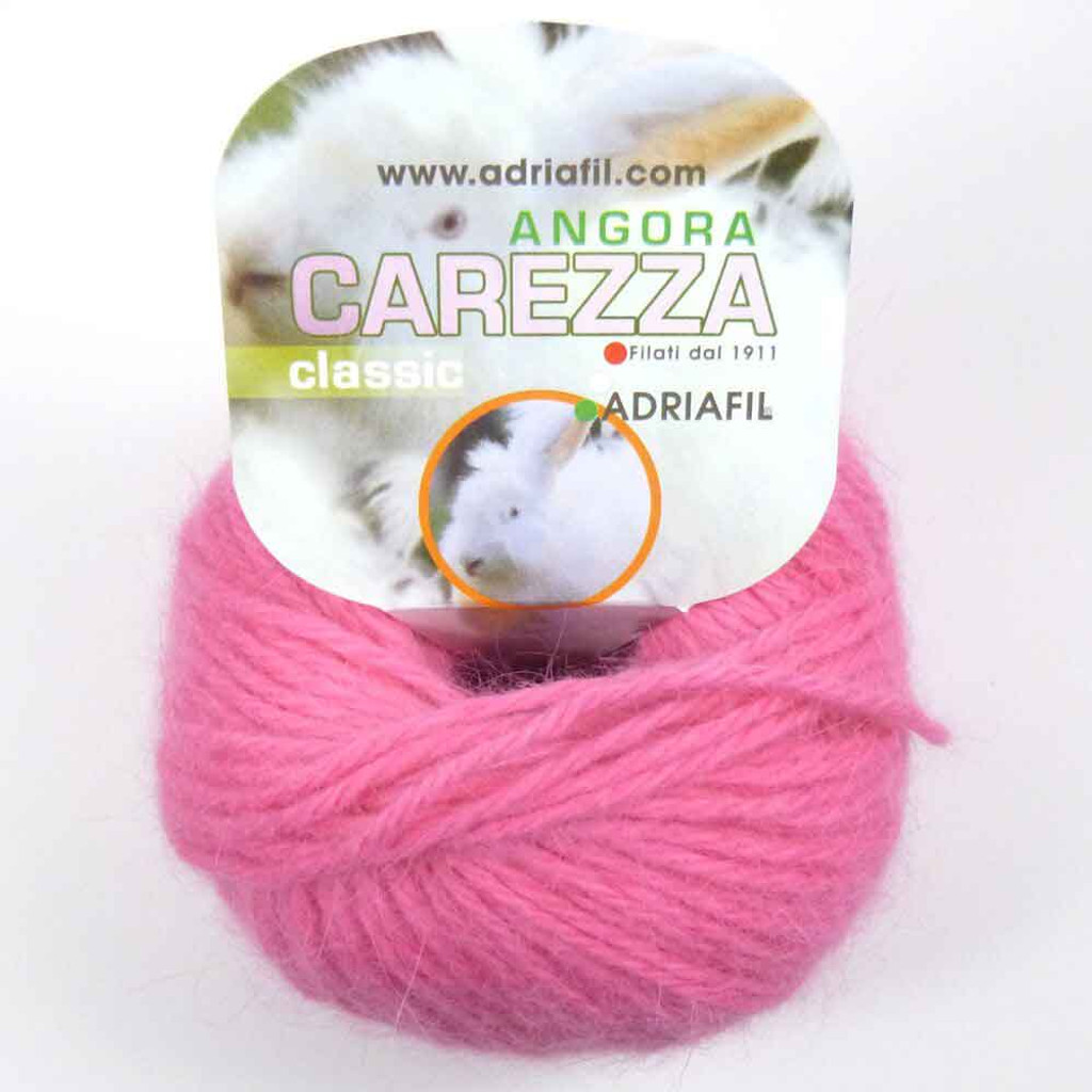 Adriafil Carezza Angora Knitting Yarn, 25g Balls | 83 Fuschia