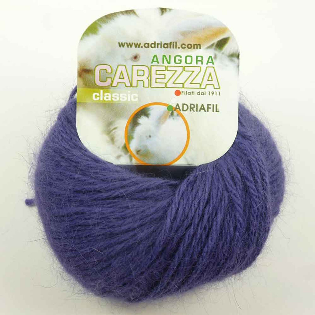 Adriafil Carezza Angora Knitting Yarn, 25g Balls | 90 Purple