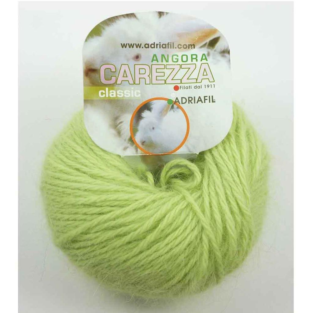 Adriafil Carezza Angora Knitting Yarn, 25g Balls | 93 Grass Green