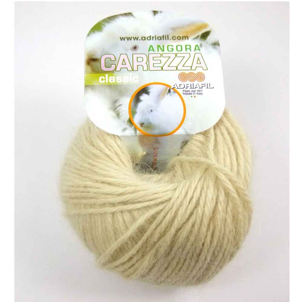 Adriafil Carezza Angora Knitting Yarn, 25g Balls | 86 Cream