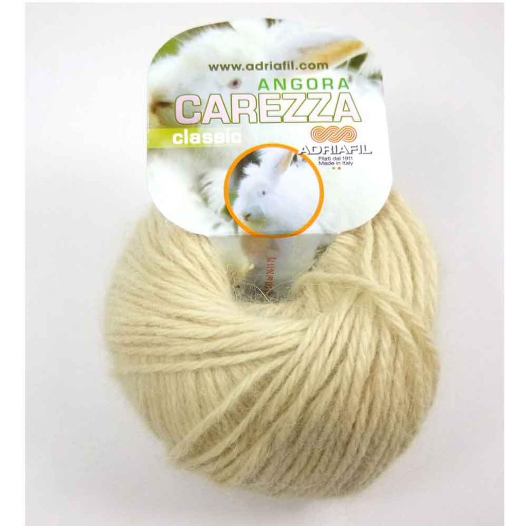 Adriafil Carezza Angora Knitting Yarn, 25g Balls | 86 Cream