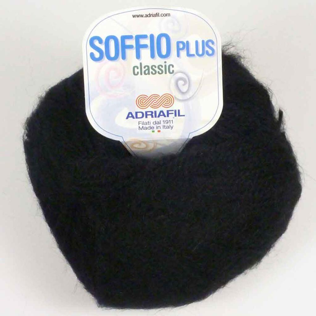 Adriafil Soffio Plus Knitting Yarn   59 Black