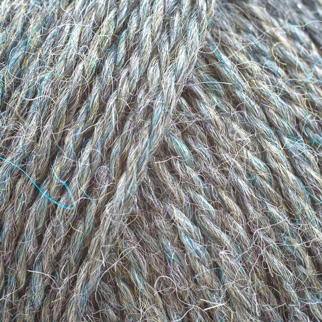 Adriafil Sierra Andina Alpaca Knitting Yarn | 91 Light Blue and Grey
