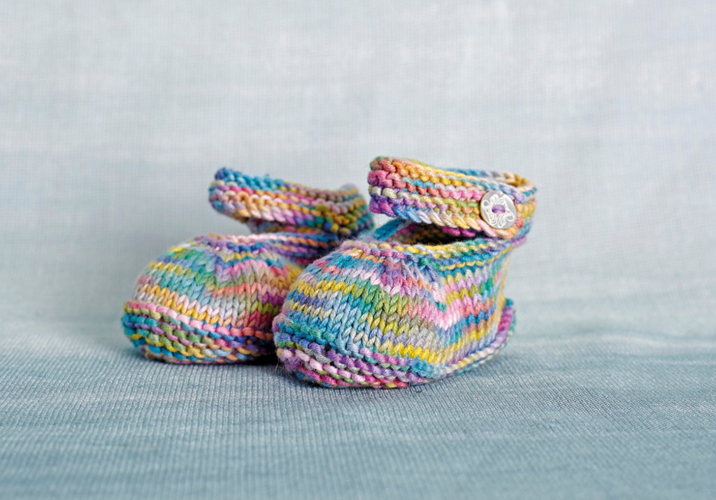 Debbie Bliss Eco Baby Prints - Booties that you could make :)