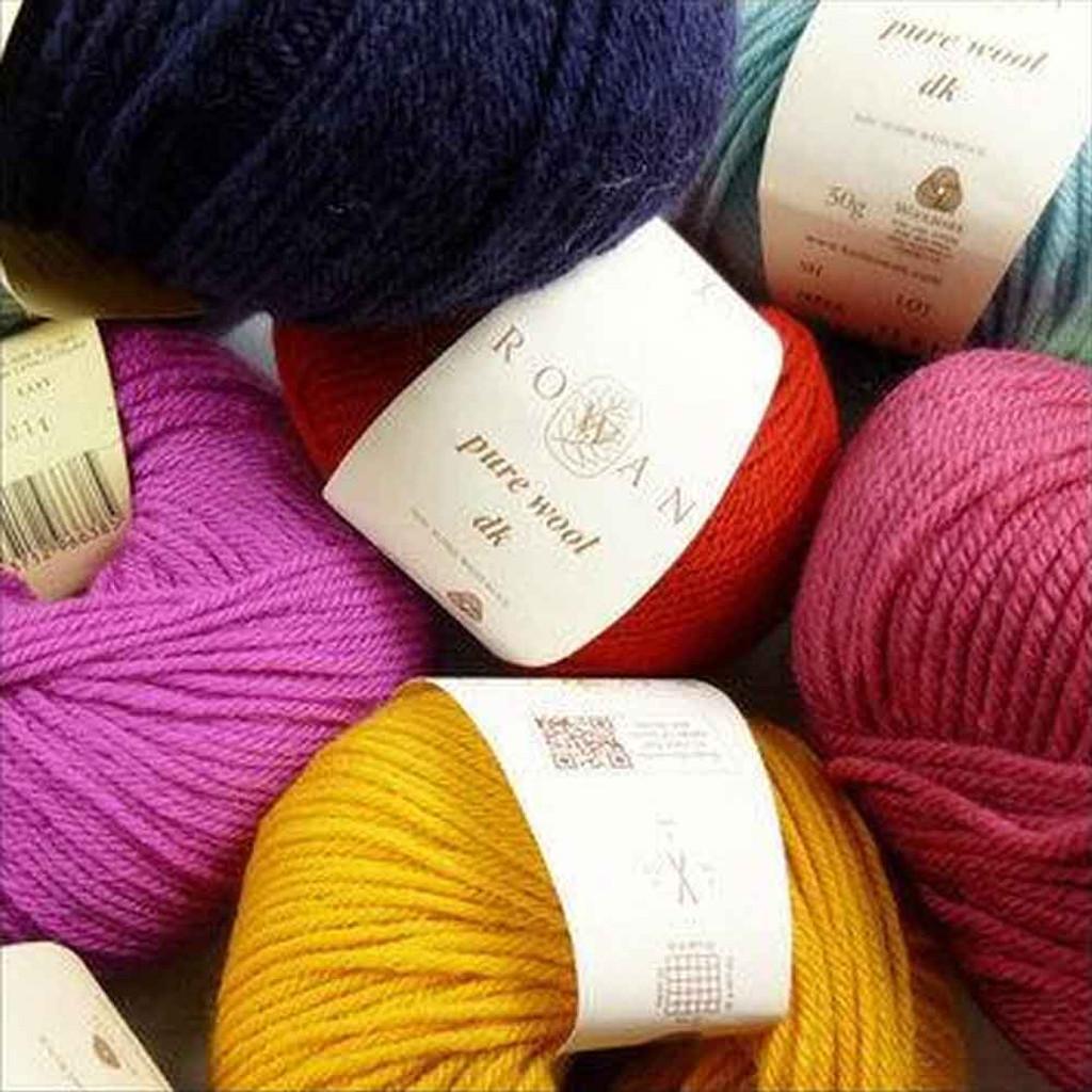 Rowan Pure Wool DK, 50g Balls | Various Shades (D) - Main Image