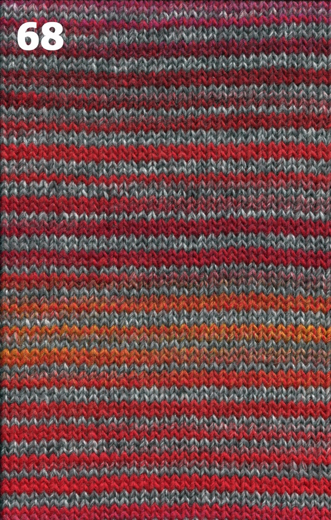 Adriafil Zebrino knitted up - 68