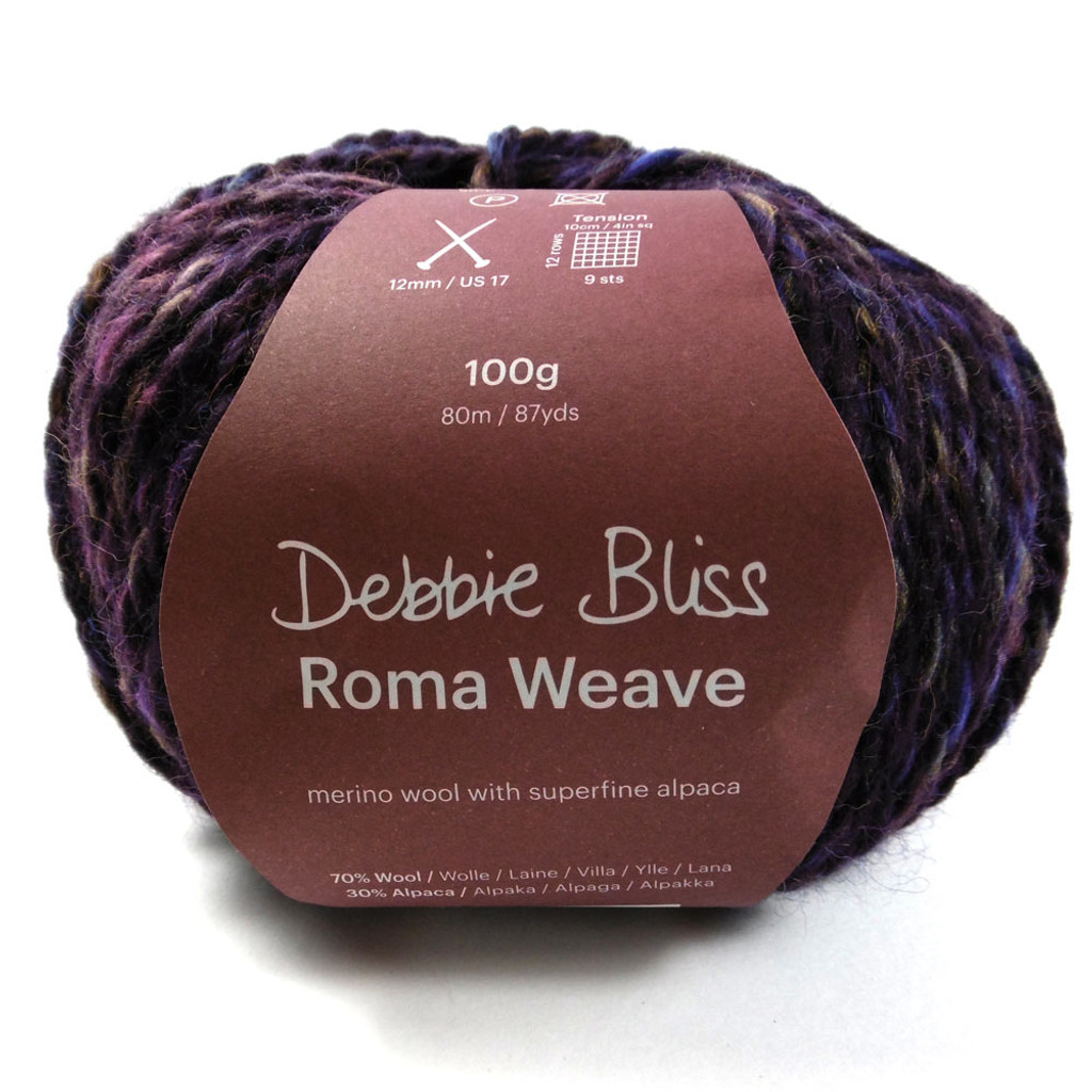 Debbie Bliss Roma Weave with ball band- Blackcurrent 53510