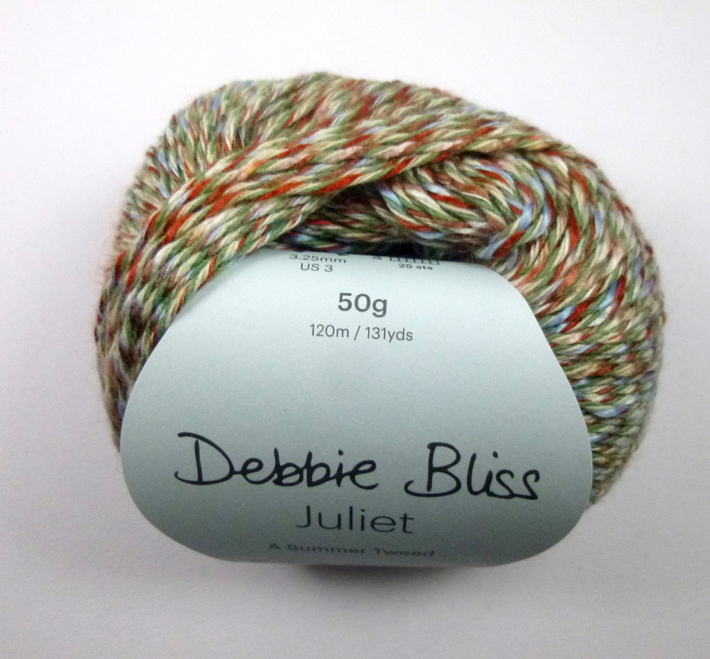 Debbie Bliss Juliet 4 Ply Yarn Knitting Yarn, 50g Balls | 02 Petal Ball