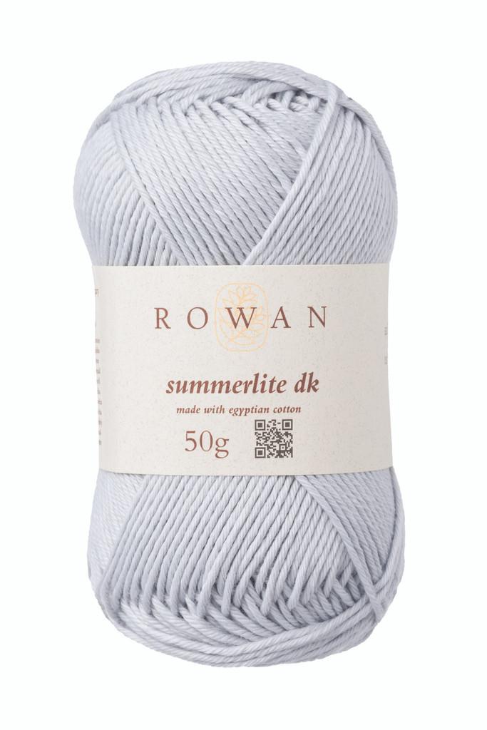 Rowan Summerlite DK Knitting Yarn, 50g Balls | 468 Silvery Blue