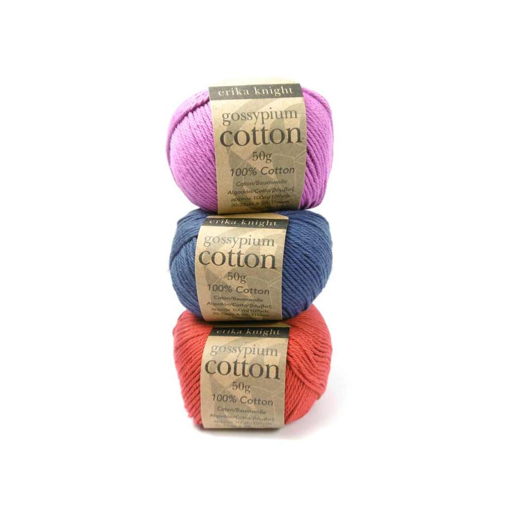 Erika Knight Gossypium Cotton DK Knitting Yarn - eco friendly cotton dk yarn.