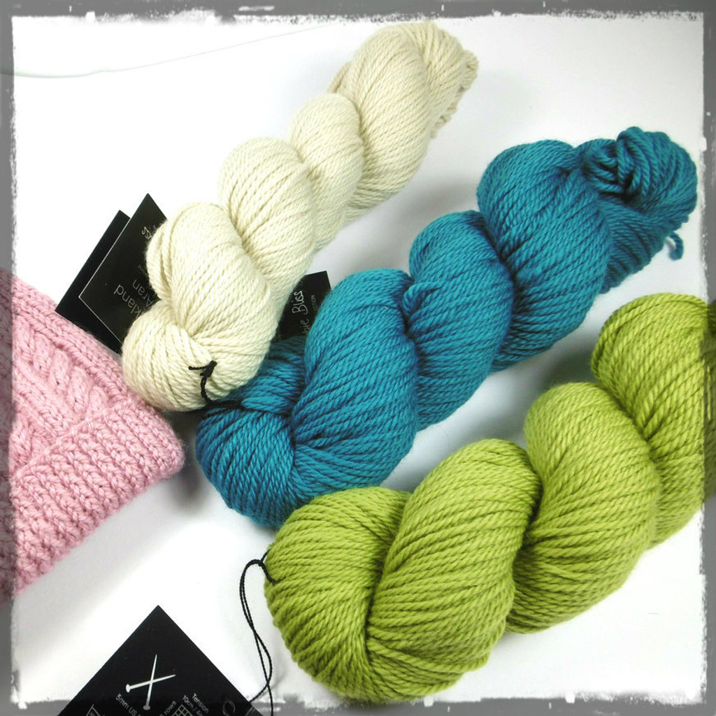 Debbie Bliss Falkland Aran Knitting Yarn and an Example of what you can make