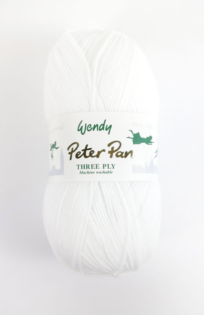 Peter Pan 3ply - 100g White