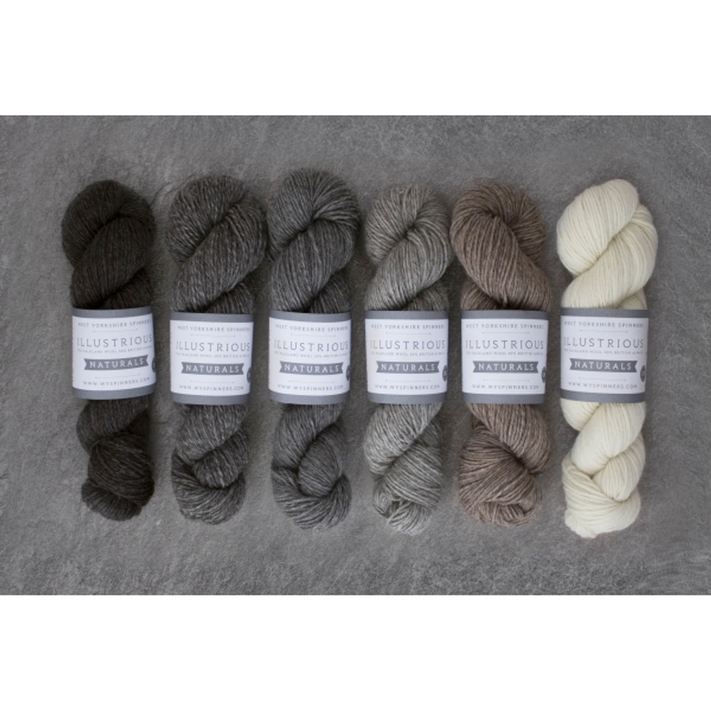 West Yorkshire Spinners Illustrious Naturals DK Knitting Yarn - Various Colours
