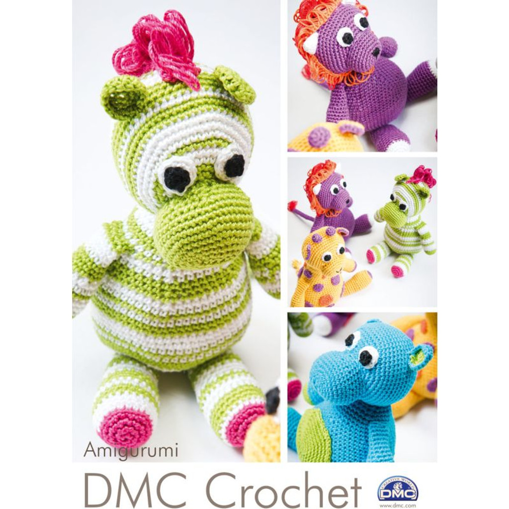 Pattern for Crocheted Safari Animals - DMC Crochet Natura Cotton