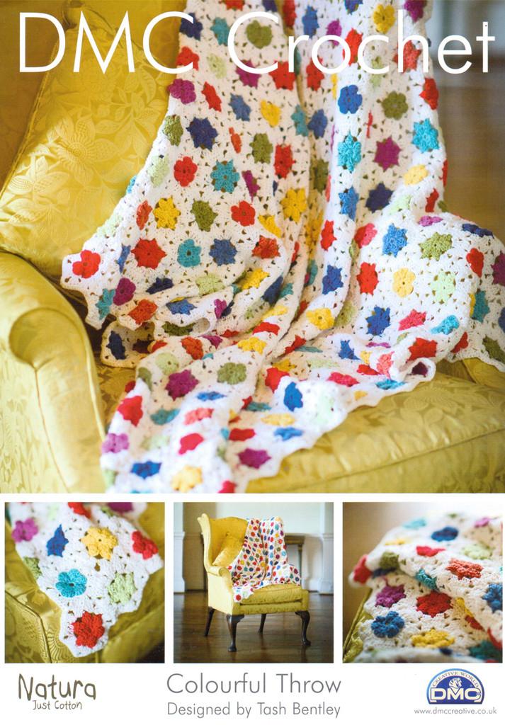 Beautiful Throw Rug Crochet Pattern | DMC Natura Cotton