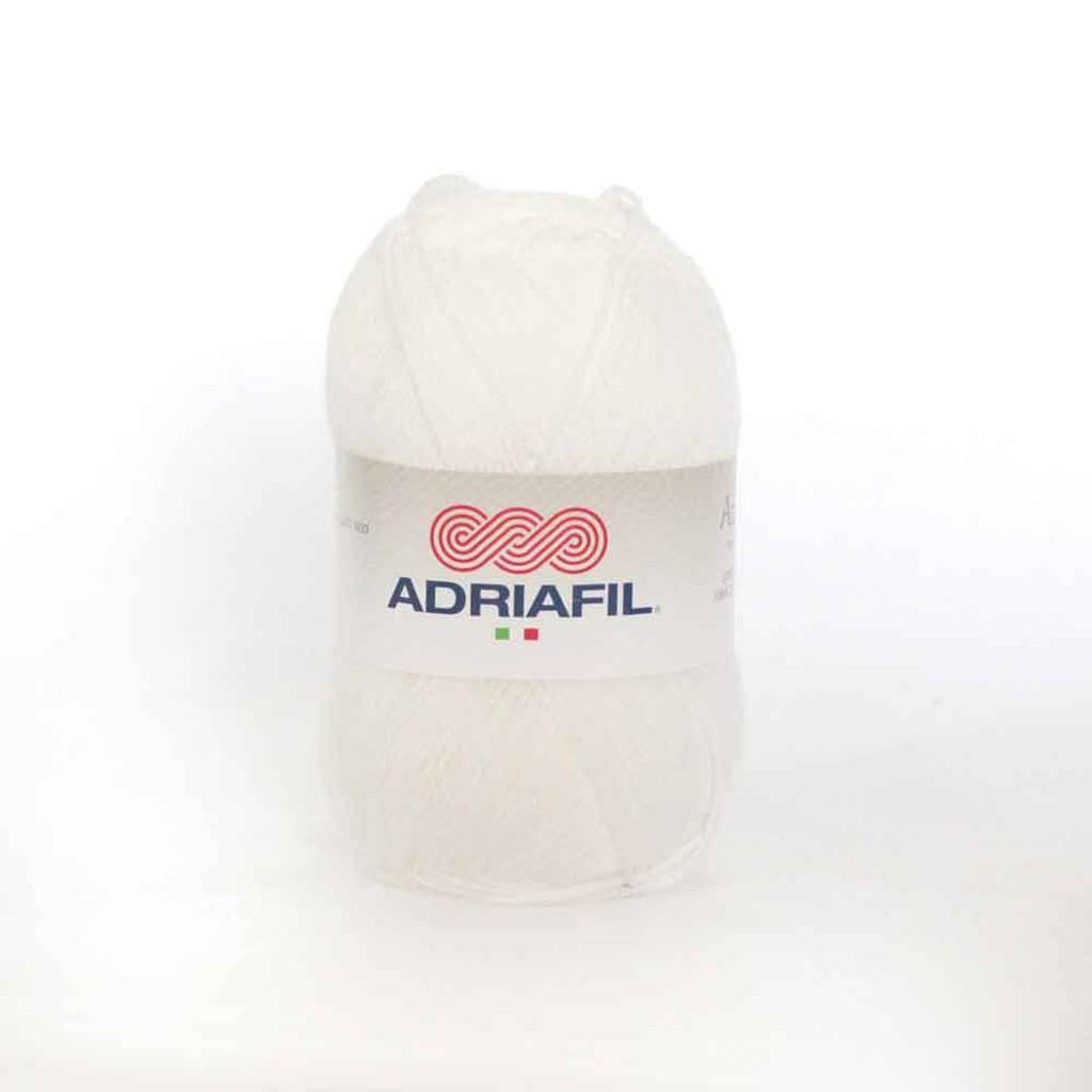 Adriafil Azzurra 3 Ply Knitting Yarn - White 02