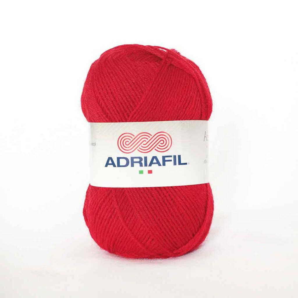 Adriafil Azzurra 3 Ply Knitting Yarn - 17 Red