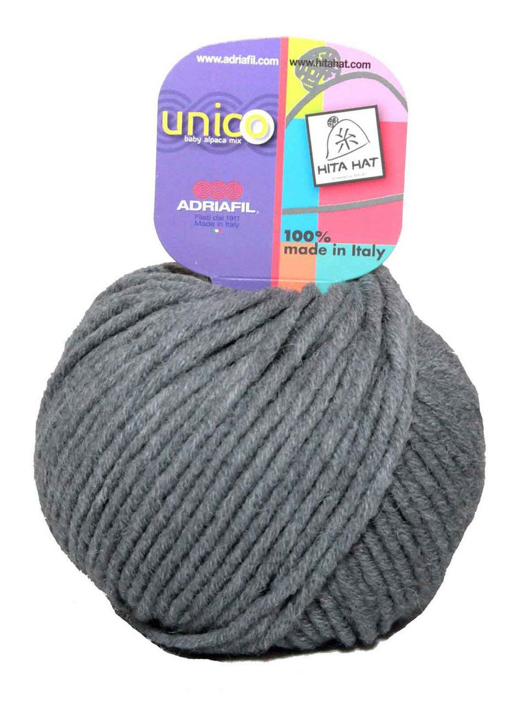 Adriafil Unico Chunky Yarn | Various Colours | 74 Grey