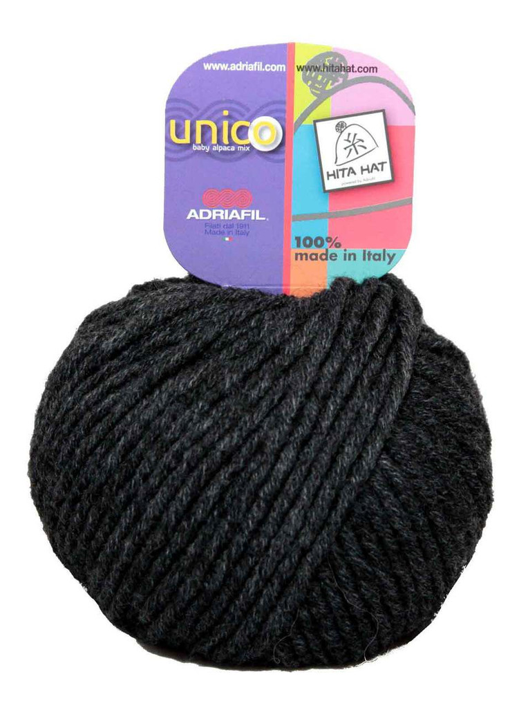 Adriafil Unico Chunky Yarn | Various Colours | 75 Anthracite