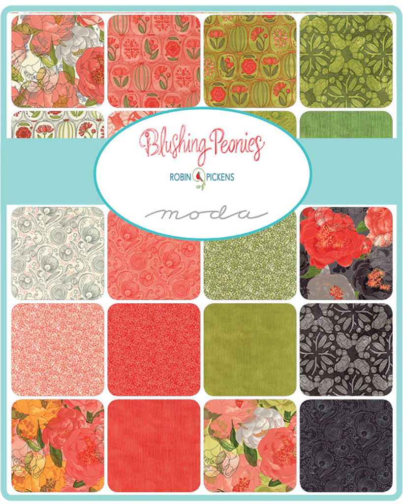 Blushing Peonies | Robin Pickens | Moda Fabrics - A selection of fabrics in the collection