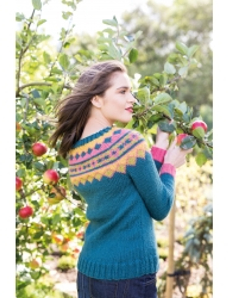 Apple Blossom Jumper Pattern | WYS Bluefaced Leicester Aran - side view