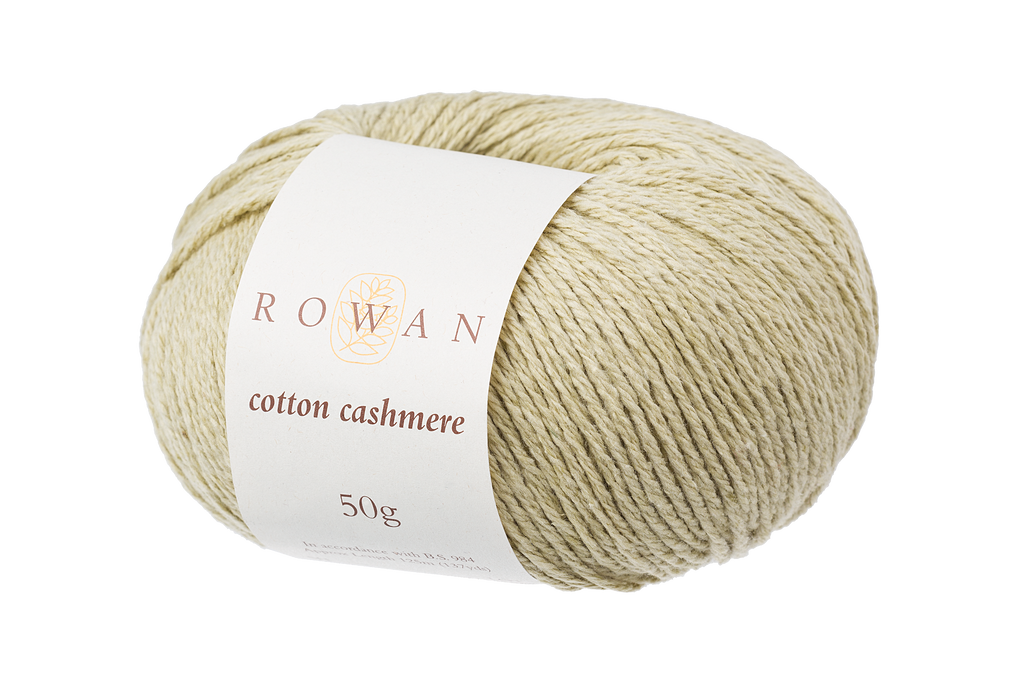 Rowan Cotton Cashmere DK Knitting Yarn, 50g Donuts | Various Shades  - 220 Linden Green