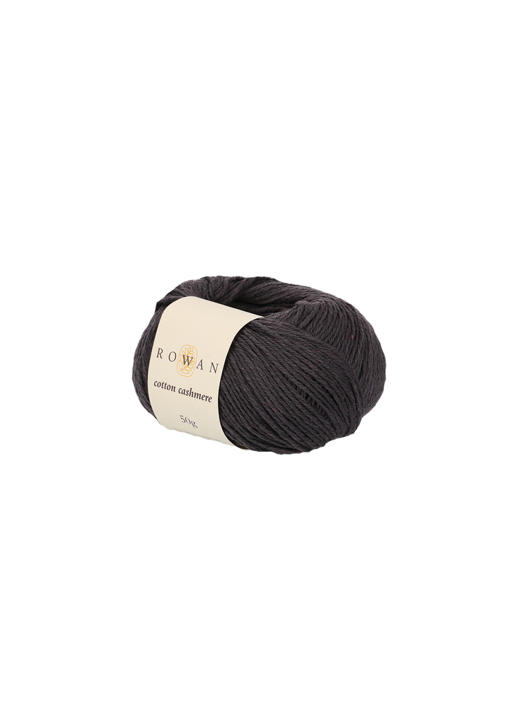 Rowan Cotton Cashmere DK Knitting Yarn, 50g Donuts | Various Shades  - 232 Charcoal