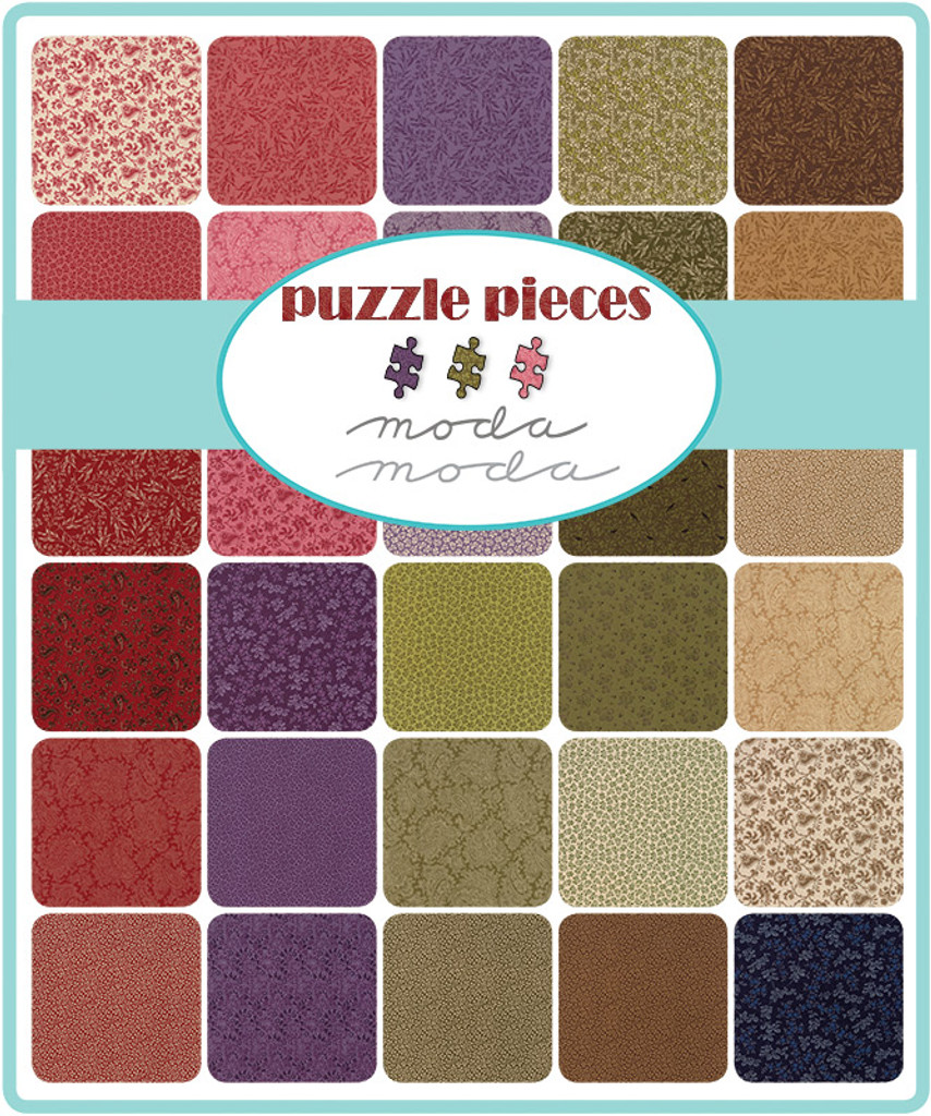 Puzzle Pieces | Moda Fabrics | Charm Pack - Patterns in the pack