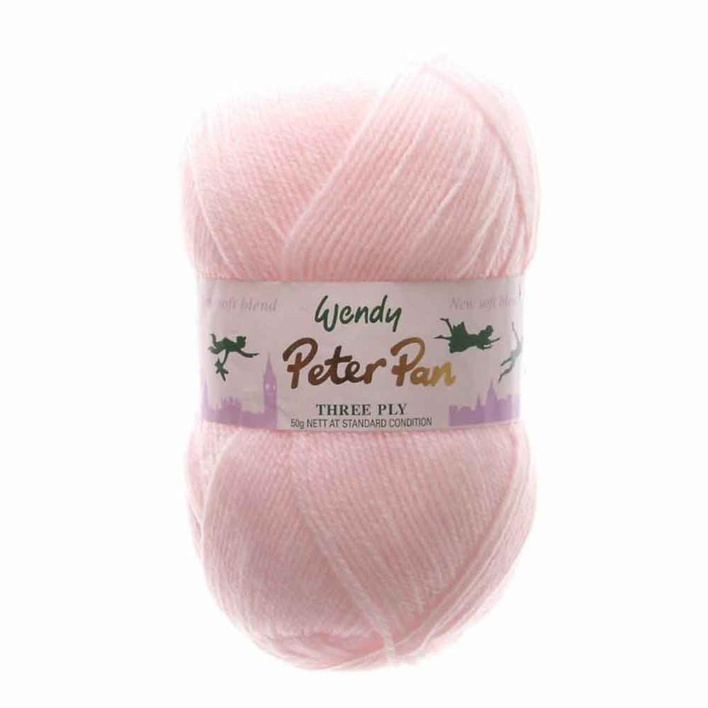 Peter Pan 3 Ply Baby Knitting Yarn, 50g Balls | 305 Baby Pink