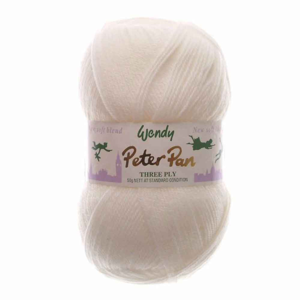 Peter Pan 3 Ply Baby Knitting Yarn, 50g Balls | 330 Soft Cream