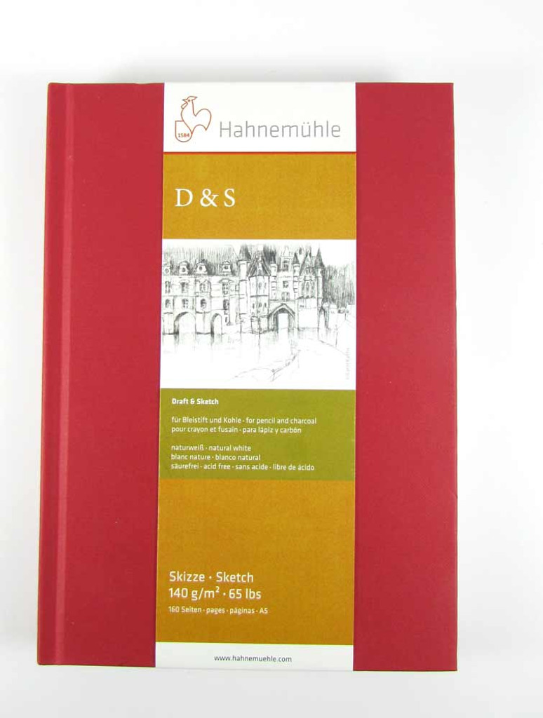 Hahnemuhle D&S Sketchbook 140gsm | Various Sizes/Colours - A5 portrait in red