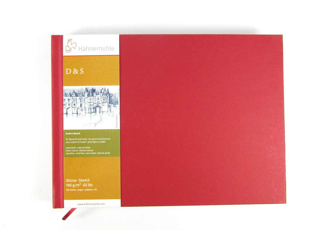 Hahnemuhle D&S Sketchbook 140gsm | Various Sizes/Colours A5 landscape in red